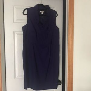 Dressbarn ruffle neck dress